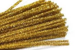 Синельная (пушистая) проволока, золото