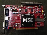 ВИДЕОКАРТА Pci-E RADEON HD 3650 на 512 MB c ГАРАНТИЕЙ ( видеоадаптер HD3650 512mb  )