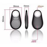 Брелок для поиска ключей Bluetooth, брелок-трекер iTag Black, фото 6