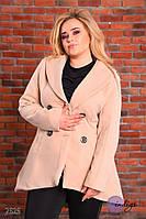 """Пальто женское из кашемира больших размеров """"Фрак"""""""
