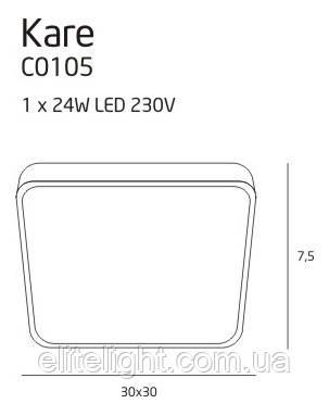 Потолочный светильник Maxlight Kare C0105