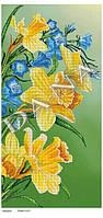"""Схема на ткани для вышивки бисером DANA """"Нарциссы"""" 5101"""