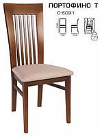 Деревянный стул С-609.1 Портофино Т мягкий, выбор ткани и выкраски белый, бежевый