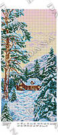 Схема на ткани для вышивки бисером DANA Времена года.Зима 5105