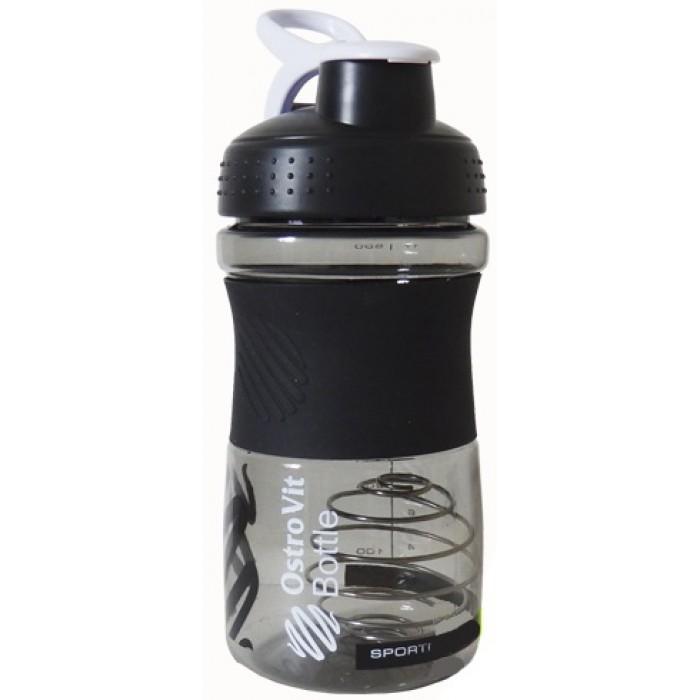 Шейкер OstroVit Bottle Sportmixer 500 ml black/черный