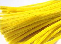 Синельная (пушистая) проволока, желтая