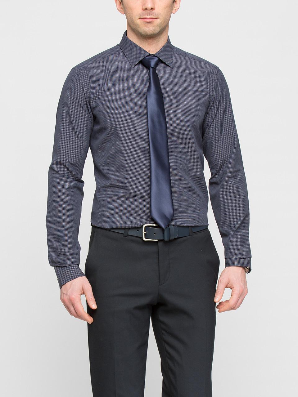 Мужская рубашка LC Waikiki синего цвета в мелкую клетку