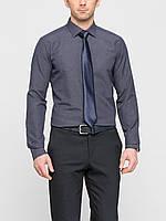 Мужская рубашка LC Waikiki синего цвета в мелкую клетку S
