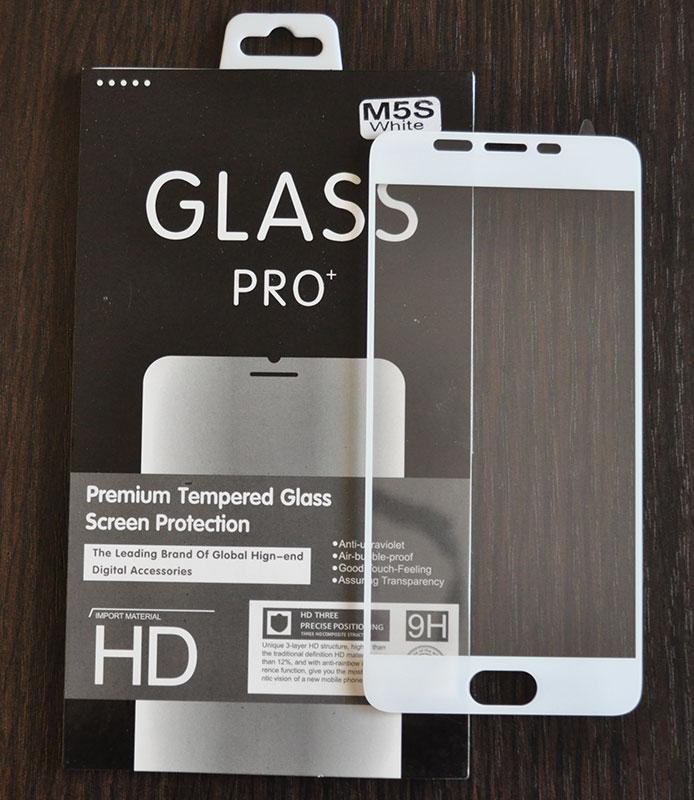 Full Cover защитное стекло для Meizu M5s - White