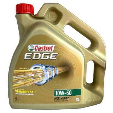 Моторное масло CASTROL EDGE TITANIUM 10W-60 4Л, фото 2