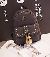 Молодежный городской рюкзак с переплетами и кисточками