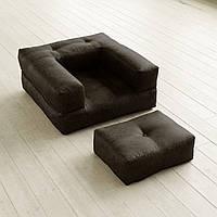 """Кресло кровать """"kub"""" элит черное, раскладное кресло,кресло диван, кресло для дома, бескаркасное кресло."""