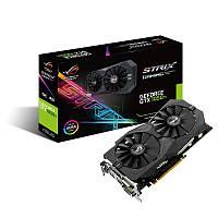 Видеокарта GeForce GTX1050Ti OC, Asus, GAMING, 4Gb DDR5, 128-bit, 2xDVI/HDMI/DP, 1506/7008 MHz (STRIX-GTX1050TI-O4G-GAMING)
