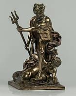 """Статуэтка Veronese с бронзовым покрытием """"Посейдон"""" 16х28 см. Символ силы и власти."""