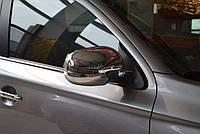 Хром накладки на зеркала Mitsubishi ASX 10-17 / Outlander 10- / 12- / 15- с вырезом под повороты (пластик)