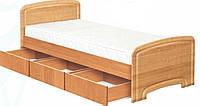 Кровать односпальная К-90С 3Я ДСП с 3 ящиками  серия Классика  (Абсолют) 980х2030х800/600мм