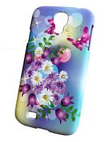 Пластиковый чехол с камушками Swarovski для Samsung Galaxy S4 Цвет №1