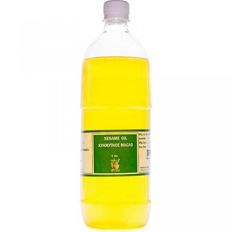 Кунжутное масло, холодного отжыма, 1 литр, для внутреннего и наружного применения