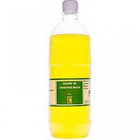 Кунжутное масло, холодного отжыма, 1 литр, для внутреннего и наружного применения, фото 1