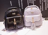 Женская сумка мини рюкзак Brush c бантиком