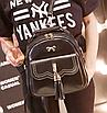 Рюкзак женский кожзам Brush c бантиком Черный, фото 2
