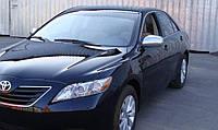 Хром накладки на зеркала Toyota Camry 40 06-09 / Corolla 07-09 / Auris 07-09 / Yaris 05-09  (нержавеющая сталь)
