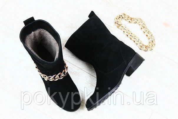 1ea3de509 Модные женские зимние сапоги кожаные цепи съемные , зимняя женская обувь от  производителя -