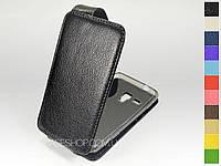 Откидной чехол из натуральной кожи для Samsung s7530 Omnia M