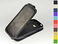Откидной чехол из натуральной кожи для Samsung s7570 Galaxy Trend II