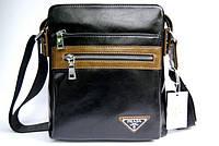 Сумка через плечо. Мужская сумка Prada. Мужские сумки недорого. Мужские кожаные сумки., фото 1