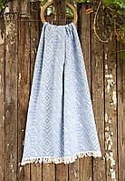 Полотенце Barine Pestemal - Argyle blue 90*160 синий
