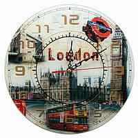 Часы настенные Лондон (d-30 см) (стекло, тихий ход)