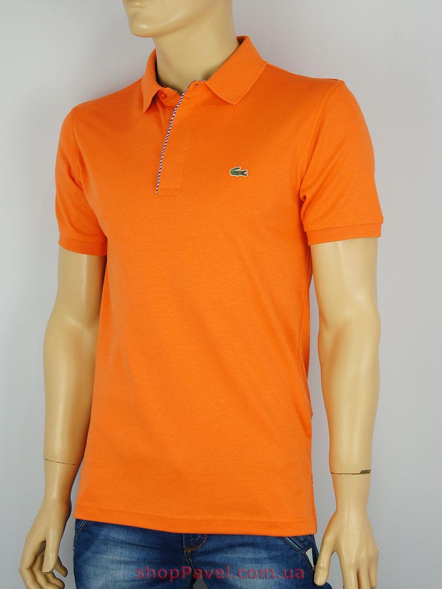 Турецкая мужская тенниска ER-028 оранжевого цвета