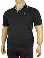 Тенниска мужская Поло 0290 черная (Турция)