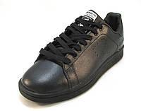 Кроссовки мужские  Adidas Stan Smith кожаные черные (р.42,43,44,45)