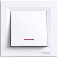 Выключатель с подсветкой Asfora белый