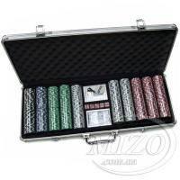 Покерный набор в кейсе, 500 фишек (111639-500)