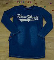 """Платье для девочки  под джинс """"New York"""" рост 134-152 см, фото 1"""
