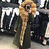 Парка натуральный мех лисы 120 см