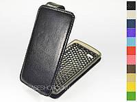 Откидной чехол из натуральной кожи для Samsung s8600 Wave 3