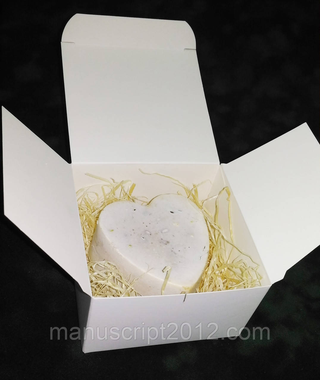Коробка для мыла ручной работы, подарков 85х85х48 мм.