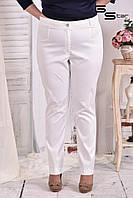 Женские белые брюки большого размера (размеры 42-74)
