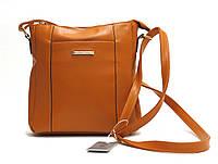 Женская сумка через плечо из искусственной кожи 83024 Рыжий