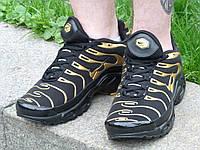 Мужские кроссовки Nike Air Max Tn+ Black\Gold(ТОП РЕПЛИКА ААА+), фото 1