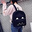 Рюкзак женский Котик с Ушками городской молодежный, фото 2
