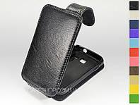 Откидной чехол из натуральной кожи для Samsung b5510 Galaxy Y Pro