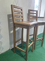 Стул барный деревянный ясень/Стілець барний дерев'яний, фото 3
