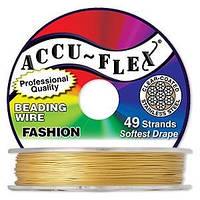 """Ювелирный тросик Accu-Flex """"Светлое золото"""", 49 струн,  0.48 мм - 50 см"""