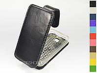 Откидной чехол из натуральной кожи для Samsung c6712 Star II Duos