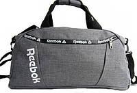 Спортивная сумка Reebok. Дорожная сумка. Сумки Найк. Сумка в спортзал. Сумка с отделом для обуви., фото 1